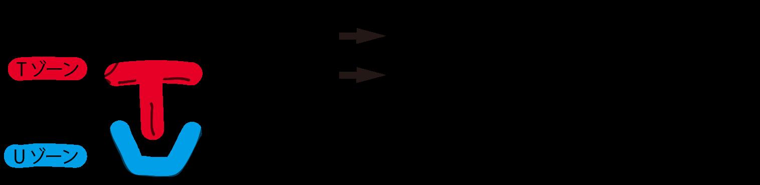 男性の肌の特徴TゾーンUゾーン